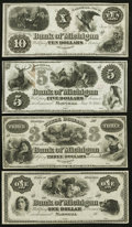 Obsoletes By State:Michigan, MI- Lot of 4 Bank of Michigan, Marshall Remainder Notes. . ... (Total: 4 notes)