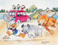 Memorabilia:Disney, Carl Barks Help! Help! Our Unca Donald is Number Two In a Food Chain Signed Limited Edition Print AP #11/25 (Carl ... (Total: 3 Items)