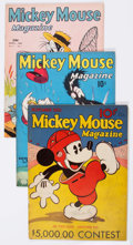 Platinum Age (1897-1937):Miscellaneous, Mickey Mouse Magazine Group of 4 (K. K. Publications/WesternPublishing Co., 1935-39) Condition: Incomplete.... (Total: 4 ComicBooks)