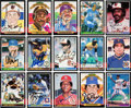 Autographs:Sports Cards, 1985 Donruss Baseball Near Set (647/665) With Almost 600 Signed Cards! ...