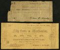 Obsoletes By State:Arkansas, AR - Lot of 2 White & Hanley, Van Buren Notes. . ... (Total: 2 notes)