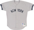 Baseball Collectibles:Uniforms, 1998 Mel Stottlemyre Game Worn New York Yankees Jersey. ...