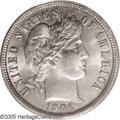 """Barber Dimes: , 1900-O 10C MS65 PCGS. David Lawrence called the 1900-O """"The mostunderrated coin in the set. In circulated grades above VG ..."""