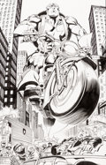 Original Comic Art:Splash Pages, Andy Kubert and Dan Green Captain America #25 Splash Page 9Original Art (Marvel, 2000)....