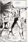 Original Comic Art:Splash Pages, Jim Aparo and David Roach Batman #561 Splash Page 13Original Art (DC, 1999)....