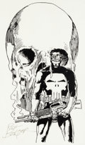 Original Comic Art:Illustrations, Rich Buckler - Punisher Illustration Original Art (undated)....