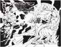 Original Comic Art:Splash Pages, Adam Pollina and Mark Morales The Rise of Apocalypse #4Splash Page 17 and 18 Original Art (Marvel, 1997)....