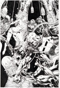 Original Comic Art:Covers, David Finch and Joe Weems Superman: Last Stand of New Krypton Hardcover Edition #2 Cover Original Art (DC, 2011)....