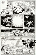 Original Comic Art:Panel Pages, Ron Lim and Joe Rubinstein Infinity Gauntlet #4 Page 27Original Art (Marvel, 1991)....