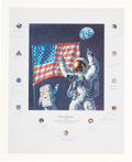 "Explorers:Space Exploration, Alan Bean Signed Limited Edition ""In the Beginning..."" Print,#271/1000, Signed by a Total of Twenty Apollo Astronauts includi..."