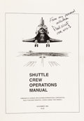 """Explorers:Space Exploration, """"Shuttle Crew Operations Manual"""" Directly from the PersonalCollection of Mission Commander Paul Weitz, Signed andCertified...."""