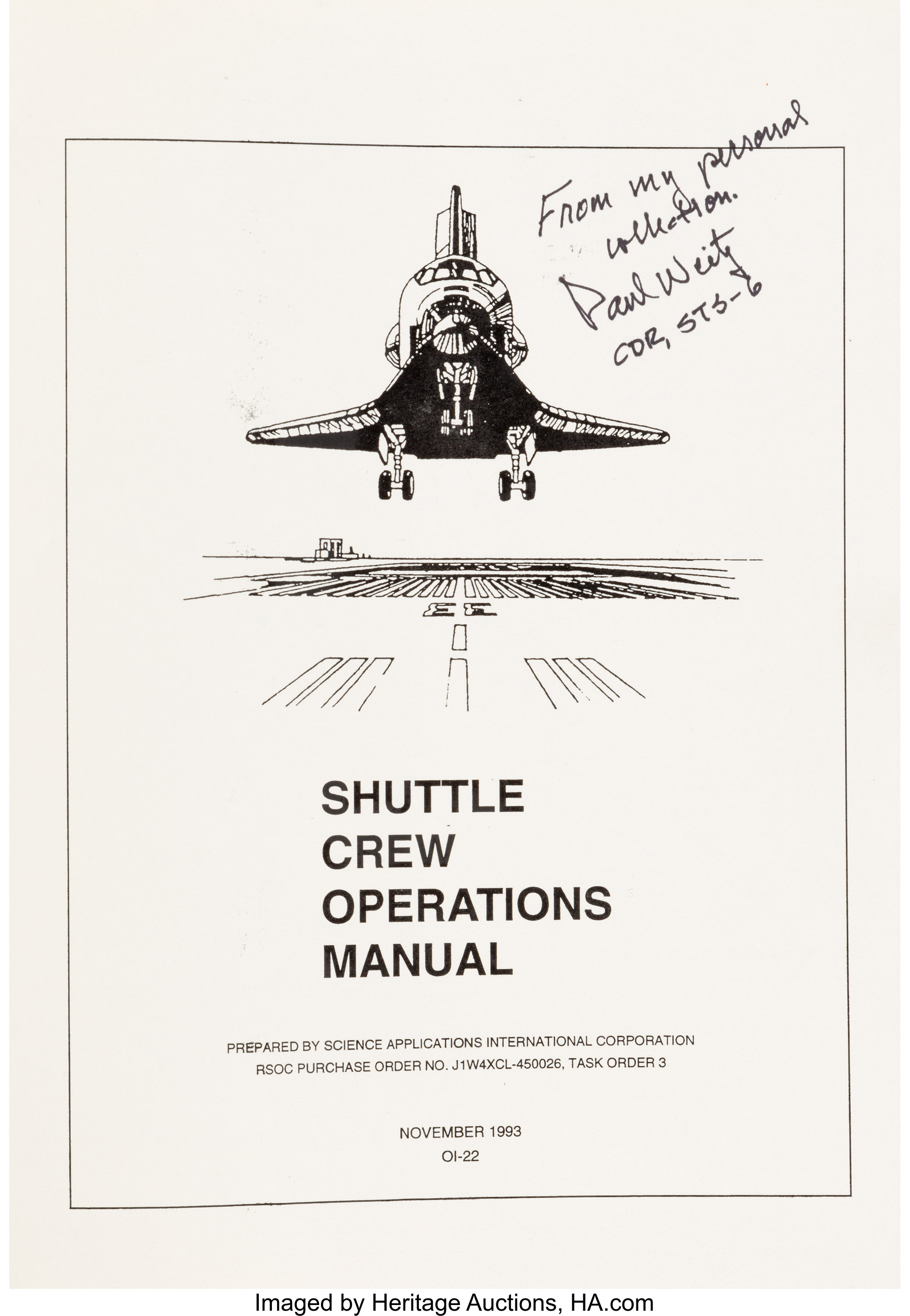 Shuttle Crew Operations Manual Directly From The Personal Lot