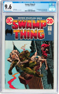 Bronze Age (1970-1979):Horror, Swamp Thing #2 (DC, 1973) CGC NM+ 9.6 Off-white to white pages....