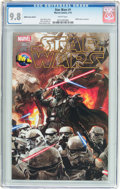 Modern Age (1980-Present):Science Fiction, Star Wars #1 M&M Comics Edition (Marvel, 2015) CGC NM/MT 9.8White pages....