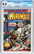 Bronze Age (1970-1979):Horror, Werewolf by Night #32 (Marvel, 1975) CGC VF 8.0 Off-white to whitepages....