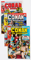 Bronze Age (1970-1979):Adventure, Conan the Barbarian Group of 7 (Marvel, 1970) Condition: Average FN/VF.... (Total: 7 Comic Books)
