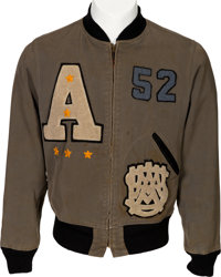 Ed White II: His U.S. Military Academy Army Letterman's Jacket from 1952, with Handwritten LOA from Ed White III. ... (T...
