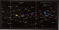 """Explorers:Space Exploration, Apollo 11 Training-Used """"CSM TEC"""" Star Chart Originally from the Personal Collection of Astronaut John Young, Signed and Certi..."""