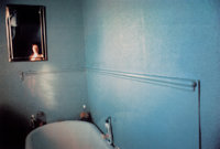 Nan Goldin (American, b. 1953) Self-portrait in blue bathroom, London, 1980 Dye destruction 26 x