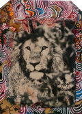 Photographs:Contemporary, Peter Beard (American, b. 1938). Lion, 1964. Polaroid withhand-painting. 5-3/4 x 4-1/8 inches (14.6 x 10.5 cm). Signed ...