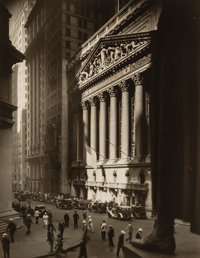 Berenice Abbott (American, 1898-1991) New York Stock Exchange II, 1934 Gelatin silver 9-1/8 x 7-1