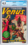 Golden Age (1938-1955):Horror, Venus #13 (Timely, 1951) CGC VG+ 4.5 Cream to off-white pages....
