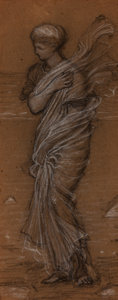 Works on Paper, After Albert Joseph Moore (British, 1841-1893). Grecian Woman. Pastel on paper. 11-1/2 x 5 inches (29.2 x 12.7 cm). PR...