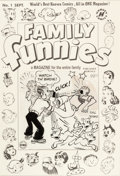 Original Comic Art:Covers, Chic Young Family Funnies #1 Cover Blondie and DagwoodOriginal Art (Harvey, 1950)....