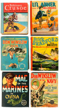 Big Little Book:Miscellaneous, Big Little Book Group of 6 (Whitman, 1940s) Condition: AverageVG.... (Total: 6 Comic Books)