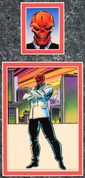 Original Comic Art:Miscellaneous, Ron Lim, Terry Austin, and Paul Mounts Marvel Trading CardsSeries 3 Card #106 The Red Skull Color Production Orig...