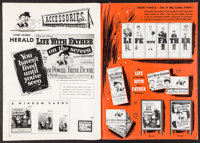 """Life with Father (Warner Brothers, 1947). Uncut Pressbook (32 Pages, 15.25"""" X 21.25""""). Comedy"""