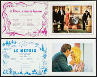 """And God Created Woman & Other Lot (Cocinor, 1956). French Programs (2) (Multiple Pages, 9.5"""" X 12.25"""")..."""