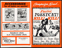 "Faster, Pussycat! Kill! Kill! (Eve Productions, 1965). Uncut Pressbook (8 Pages, 11"" X 17""). Sexploitation..."