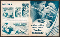 "Double Indemnity (Paramount, 1944). Pressbook (24 Pages, 12.25"" X 15""). Film Noir"
