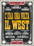 """Movie Posters:Western, Once Upon a Time in the West (Paramount, 1969). Silk Screen Italian 4 - Fogli (55"""" X 78""""). Western.. ..."""