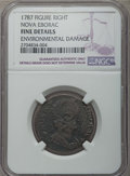 1787 COPPER Nova Eborac Copper, Seated Right, -- Environmental Damage -- NGC Details. Fine. NGC Census: (1/20). PCGS Pop...
