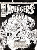 Original Comic Art:Covers, David Wenzel and Duffy Vohland Avengers #145 UK CoverOriginal Art (Marvel UK, 1976)....