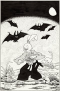 Original Comic Art:Covers, Stan Sakai Usagi Yojimbo #21 Cover Original Art(Fantagraphics, 1990)....