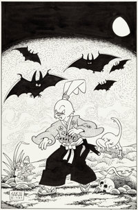 Stan Sakai Usagi Yojimbo #21 Cover Original Art (Fantagraphics, 1990)