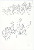 Original Comic Art:Splash Pages, Joshua Middleton Superman/Shazam!: First Thunder #2 SplashPage 10 Original Art (DC, 2005)....