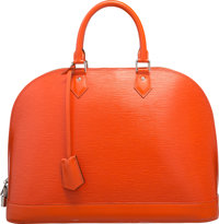 "Louis Vuitton Piment Orange Epi Leather Alma GM Bag Excellent Condition 15"" Width x 11"" Height x 7"" Depth"