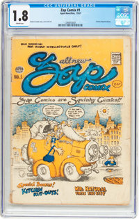 Zap Comix #0 (2nd and 3rd Printings) and #1 (CGC-Graded 1st Printing) Group (Apex Novelties/Print Mint, 1967-69).... (To...