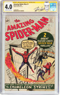Silver Age (1956-1969):Superhero, The Amazing Spider-Man #1 Signature Series (Marvel, 1963) CGC VG4.0 Off-white to white pages....