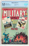 Golden Age (1938-1955):War, Military Comics #3 (Quality, 1941) CBCS FN- 5.5 Off-white to white pages....
