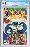 Modern Age (1980-Present):Superhero, Moon Knight #1 (Marvel, 1980) CGC NM 9.4 White pages....