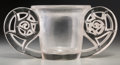 Art Glass:Lalique, R. Lalique Clear and Frosted Glass Pierrefonds Vase. Circa1926. Wheel Carved R. LALIQUE. M p. 436, No. 990....