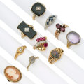 Estate Jewelry:Rings, Diamond, Multi-Stone, Gold Rings. ... (Total: 10 Items)
