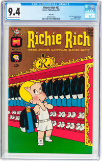 Richie Rich #57 File Copy (Harvey, 1967) CGC NM 9.4 Off-white to white pages