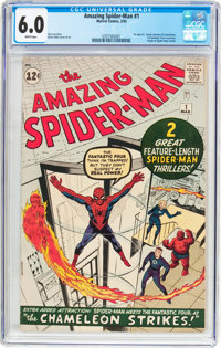 The Amazing Spider-Man #1 (Marvel, 1963) CGC FN 6.0 White pages