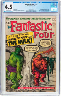 Fantastic Four #12 (Marvel, 1963) CGC VG+ 4.5 Off-white pages